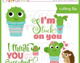 Cactus svg, Valentine SVG, cactus clipart, DXF, Valentine Clipart, svg Files for Cutting Machines Cameo or Cricut
