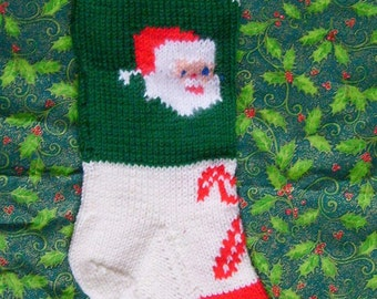 Vintage Christmas Stocking Knitting Pattern Free : Personalized Hand Knitted Christmas stockings by Knitternicks