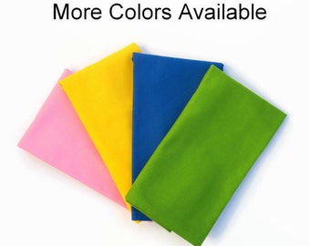 Children Cloth Napkins, Set of 4, 5 or 6,  Small Size Solid Napkins, Kids Cotton Napkin, Kid Solid Color Cloth Napkins, Kids Lunchbox Napkin
