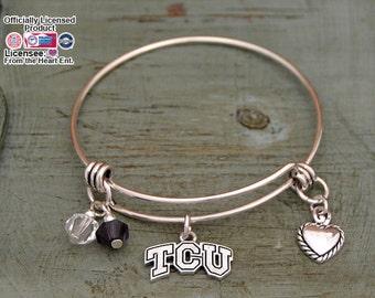 TCU Horned Frogs Memory Wire Bracelet