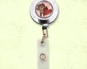 Cute Bear Badge Clip Reel - 57908