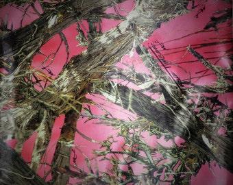 PinkTrue Timber Camo Bridal Satin Fabric, Camo Fabric, Bridal Satin, Wedding Fabric, Camo Dress, Camo Wedding, Pink Camo Fabric