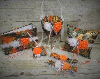 Orange Camo Wedding Set, Orange Camo Wedding, Orange Camo Accessories, Camo Wedding, Customize, Orange Blaze True Timber Camo