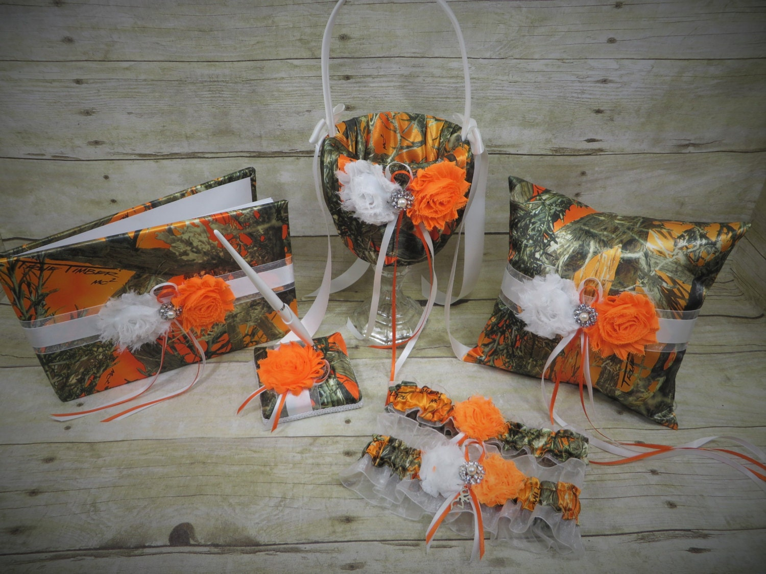 orange camo wedding set orange camo wedding orange camo accessories camo wedding customize orange blaze true timber camo - Orange Camo Wedding Rings