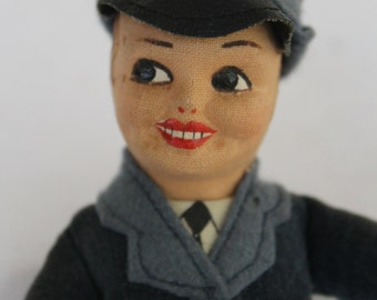 Norah Wellings RAF doll, Made in England, 1940's doll