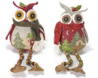 Felt Owl Big Embroidered Ornamental Owl