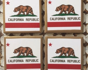 COASTERS!! California Flag Coasters!