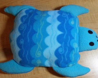 Custom microwavable heat pad turtle with removable cover