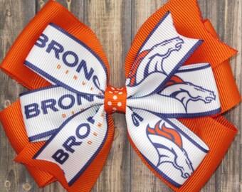 Denver Broncos Hair Bow / Denver Bow / Broncos Bow / Denver Broncos