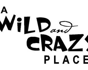 A wild and crazy place Decal