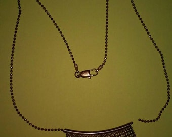 Vintage silver necklace made in italy