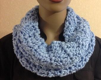 Crochet Cowl/scarves/Mother's Day gift/blue/winter/women/circle scarf/loop scarf/hood/soft/handmade/crochet