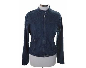 Chipie Womens Denim Jacket XL Blue Cotton