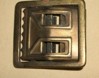 "Vintage Solid BRASS MILITARY Belt BUCKLE Army 1 3/4"" x 1 5/8"""