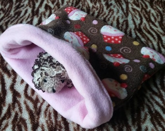 Cupcakes Cuddle Fleece Snuggle Sack for Hedgehogs/Rats/Guinea Pigs/Rabbits/Sugar Gliders