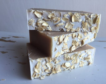 Organic Oatmeal Soap with Bentonite Clay Fragrance Free