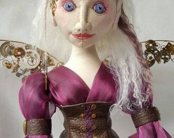 OOAK Steampunk fairy art doll