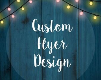 Custom Flyer design - Single side - Business Flyer - Photography Flyer Design - Professional Flyer - Shop Flyer - Party Flyer