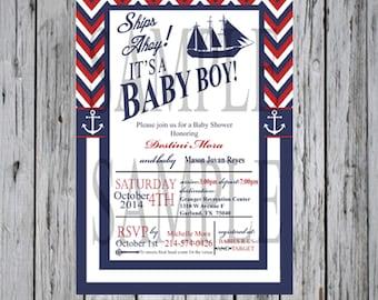 Baby shower invite Nautical boy