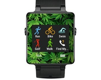 Skin Decal Wrap for Garmin Vivoactive Forerunner Watch cover sticker Weed