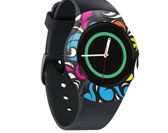 Skin Decal Wrap for Samsung Gear S2, S2 3G, Live, Neo S Smart Watch, Galaxy Gear Fit cover sticker Swirly