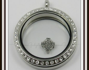 Celtic Cross Floating Charm for Glass locket / Floating Locket / Memory Locket