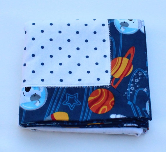 Only onebaby boy flannel blanket outer space receiving for Space flannel