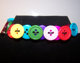 Colorful Buttons Elastic Bracelet