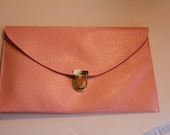 SALE!!!    Monogrammed Pink Clutch...One Time Only Price