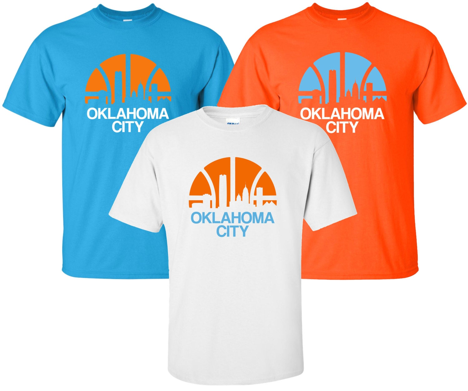 New oklahoma city t shirt available in sizes for Custom t shirts okc