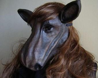 Halloween mask Moose mask Animal mask Paper mache mask Moose head Moose costume Masquerade mask