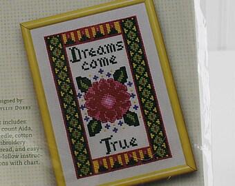 "Dreams Come True Counted Cross Stitch Kit, 4""x6"", K141S"