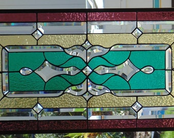 Stained Glass Window Hanging 29 3/4 X 15 3/8