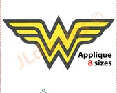 Wonder Woman applique design. Machine embroidery design - INSTANT DOWNLOAD - 8 sizes