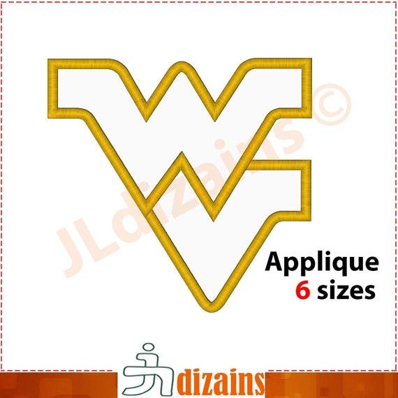 west virginia applique design machine embroidery design instant design