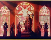 "Ghost Band Satanic Church Poster GIANT WIDE Size 42"" x 24"" Evil Art Devil jesus"