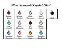 SALE - Swarovski Birthstone Add-On to Sterling Silver Necklace - Birthstone Charm - Flat Back Addon - Channel Drop - Birth Stone