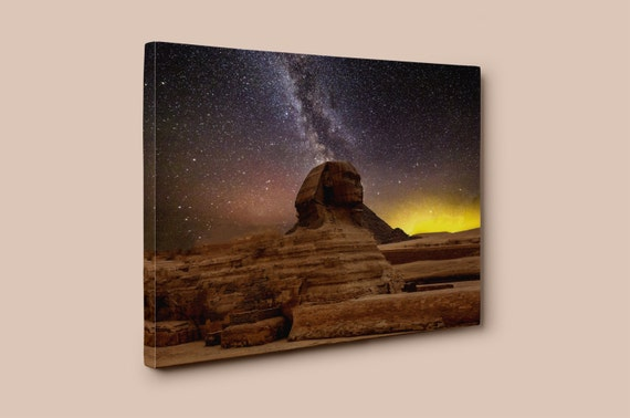 Stars of the Great Sphinx of Giza | Mirror Wrapped Premium Canvas