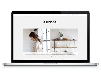 Wordpress Theme - Aurora - Responsive Wordpress Blog Design - Wordpress Template - Wordpress Theme Feminime - Wordpress Theme Modern