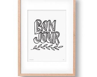 Bon Jour Wall Art Print