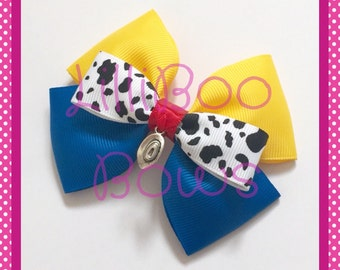 Handmade Woody Toy Story Inspired Hair Bow
