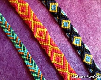 Colored cotton bracelets - different versions