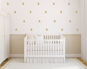 Triangle Wall Decals Set - Set of 30 Triangles - Multiple Sizes! - Triangle Nursery Home Decor Pattern Wall Vinyl Stickers
