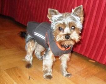 Yorkie Dog Raincoat - Yorkshire Terrier Dog Jacket with underbelly protection - Custom Dog Coat - Waterproof Dog Coat - Dog Rain Coat