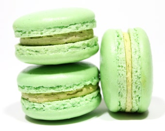 French Macaron Cookie 10 Pistachio Macaroons Gift Box Bisou Bisou Best Macarons