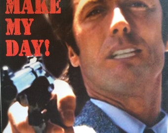 "Dirty Harry Clint Eastwood ""Make My Day"" 24 X 36 poster print"