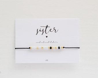 SISTER Morse Code Bracelet, Morse Code Jewelry, Friendship Bracelet, Morse Code Bracelet, Wish Bracelet, Wish Jewelry, Make a wish bracelet