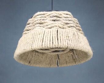 Hemp Rope Lightings-Hand Woven Pendant Lights-Decor Lighting-Ceiling Lamp-Hanging Lighting-Vintage Lamp-Rural Droplight-Lighting Fixtures