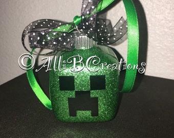 Personalized Handmade Minecraft Ornament