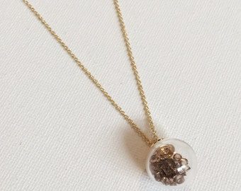 Gold Glass Ball Necklace